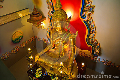 Image of Buddha gold light