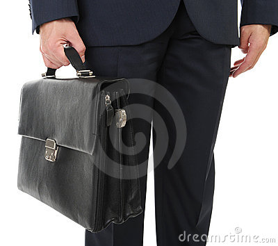 Image of a businessman holding a briefcase