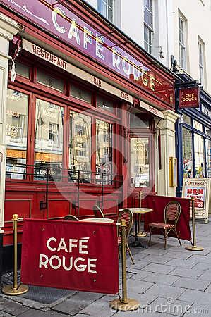 Cafe Rouge Editorial Photography