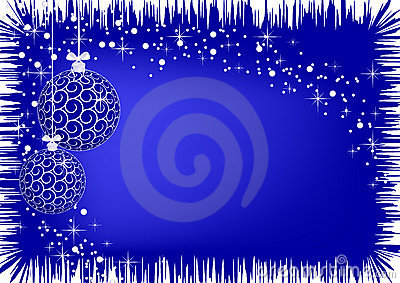 Image of christmas blue balls