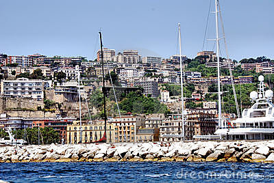 Image of the cliffs of mergellina, Naples