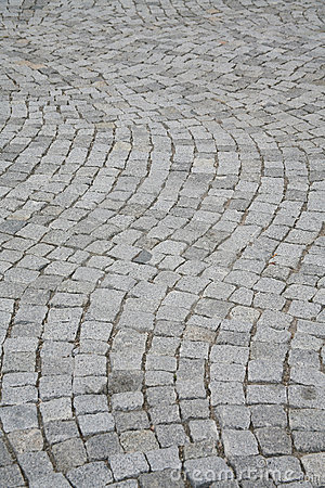 Image composed of blocks of paving the way