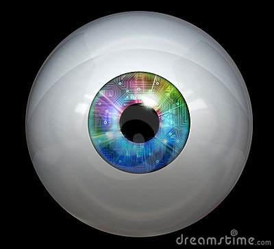 Image of digital eye ball