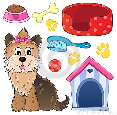 Image with dog topic 5 - eps10 vector illustration.