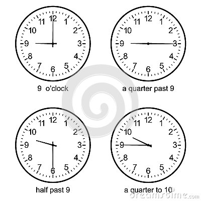 Time To Learn Clock Stock Illustration - Image: 39509832