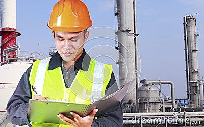 Image of engineer oil refinery