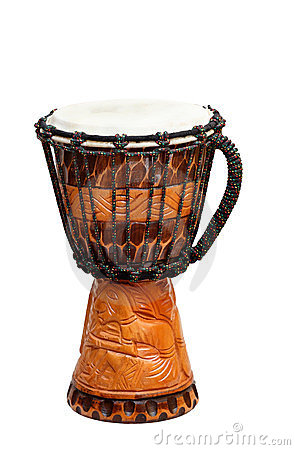 The image of ethnic african drum