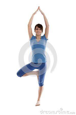 Image of a girl practicing yoga