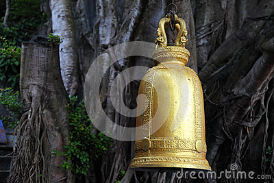 Image of golden bell in Thailand