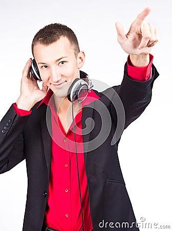 Image of handsome male DJ