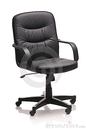 Image of a leather office chair