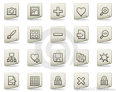 Image library web icons, document series