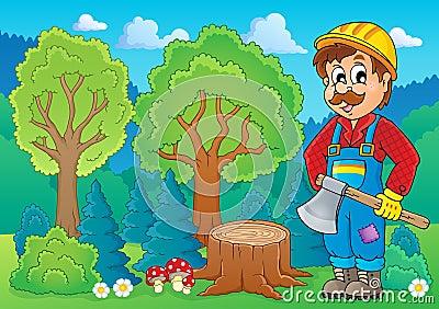 Image with lumberjack theme 2