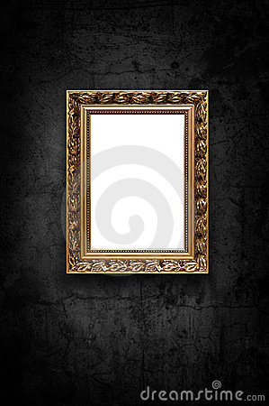 Image of luxury artframe on dark wall