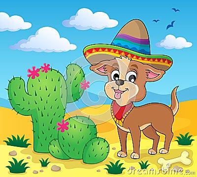 Image mignonne 4 de thème de chien