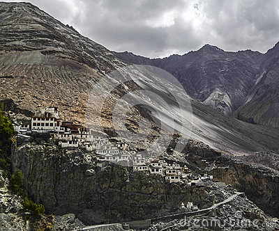 An image of a monastery in Leh city in Ladakh, India
