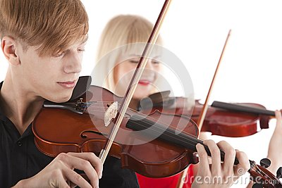 Image of musicians playing violins