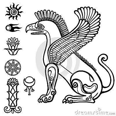 Free Image Of Assyrian Winged Animal. Royalty Free Stock Image - 76592866