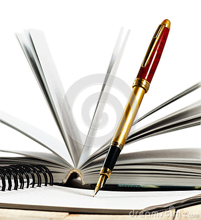 Free Image Of Book And Pens Closeup Royalty Free Stock Photography - 94066687