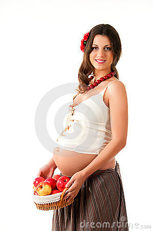 The image of a pregnant woman.