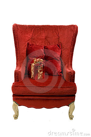 An image of a red chair
