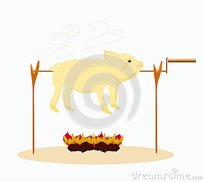 Image of a roasted pig.