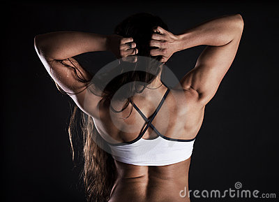 Image of sexy muscular sportswoman
