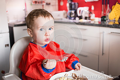 Little Boy eating