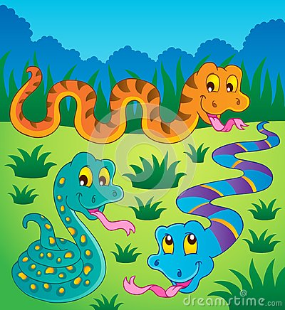 Image with snake theme