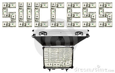 Image suitcases of dollars