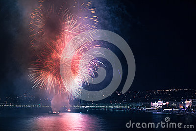 Fireworks on water