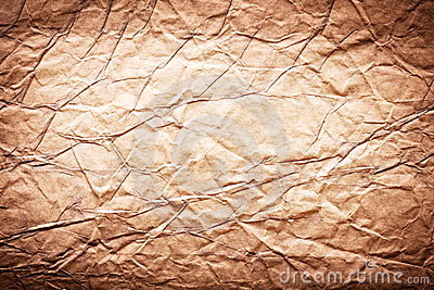 Image texture of crumpled brown paper