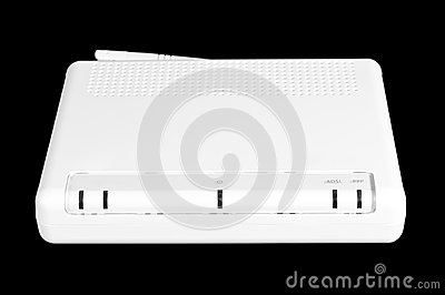 Image of a turned off white internet router