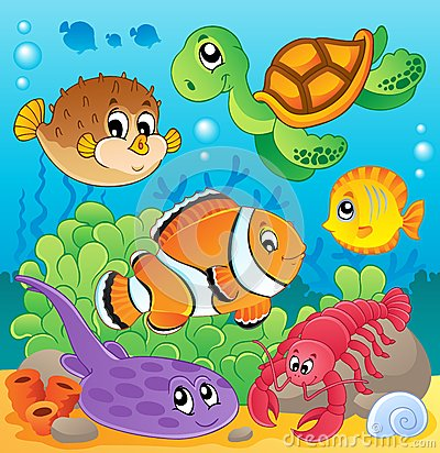 Image with undersea theme