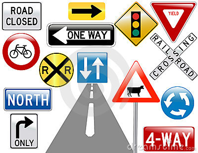 Image of various road signs