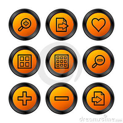 Image viewer icons, orange