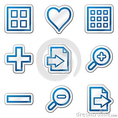 Image viewer web icons, blue contour sticker