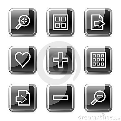 Image viewer web icons, glossy buttons series