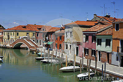 Murano -grand canal of island Editorial Image