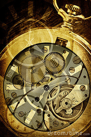 Imagem conceptual do tempo do vintage