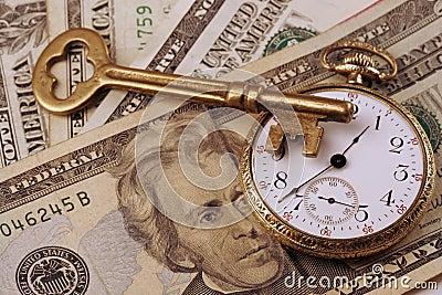 Imagem do conceito do tempo e do dinheiro