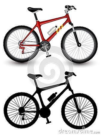 Imagem isolada de uma bicicleta