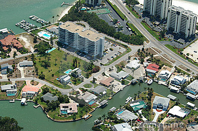 Imagen aérea costera de la Florida