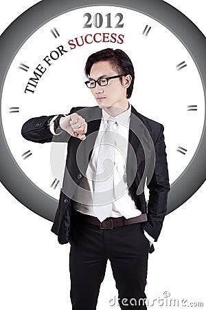 Imagen de motivación: Hora para el éxito