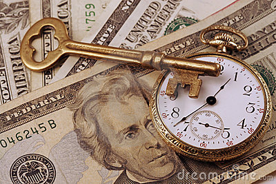 Imagen del concepto del tiempo y del dinero