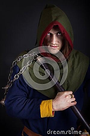 Imagen del guerrero malvado