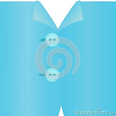 Imagen del vector de la ropa abrochada