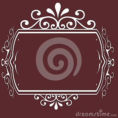 Vintage frame background design