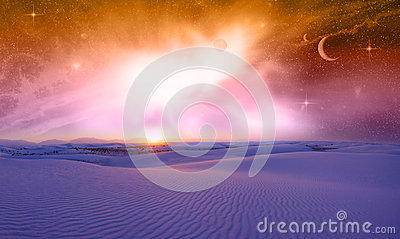 Fantasy Space Sunset