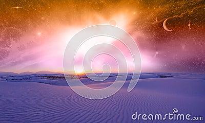 Fantasy Space Sunset
